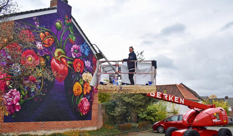 graffiti kunstenaar Gaia