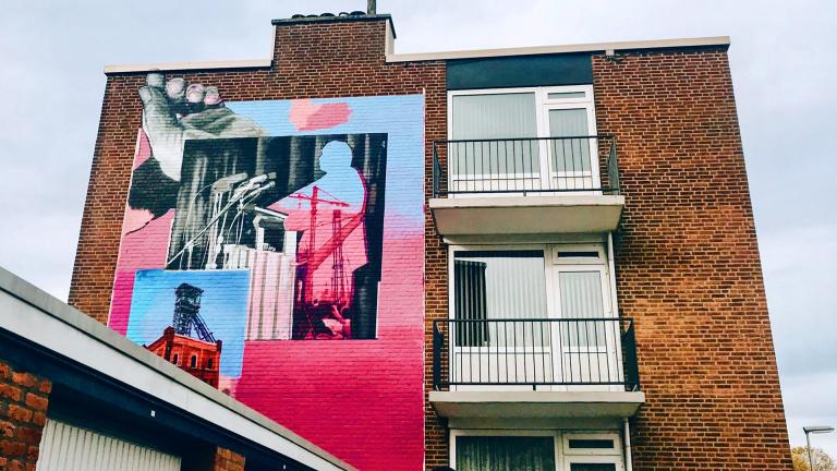 murals tpv de Heerlense wijk Schandelen